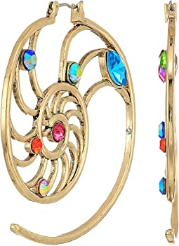 Betsey Johnson - Seashell Open Hoop Earrings