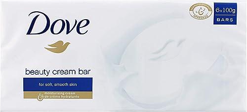 Dove Savon Lavant Antibactérien Original, Pour une peau douce et hydratée (Lot de 6x100g)
