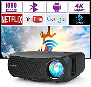 2020 Wifi LED Home Cinema Movie Projector 1080p Native 4K Compatible 7000 Lumen Multimedia Bluetooth Outdoor Theater 1920x...