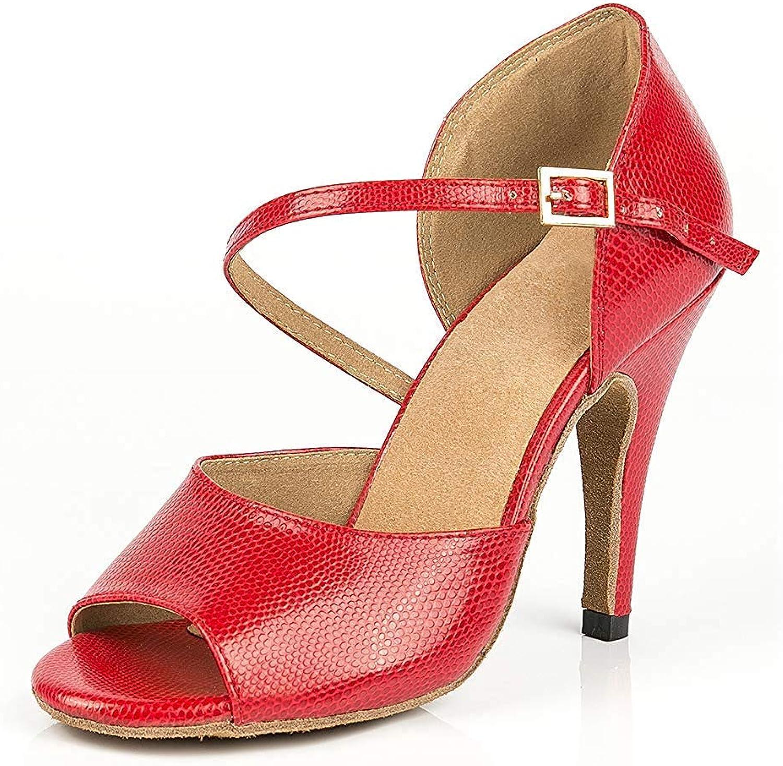 ZHRUI Frauen Single Strap Tango Tanzschuhe Club Hochzeit Sandalen Rot UK 3.5 (Farbe   -, Größe   -)    Schönes Design    Verrückte Preis    Passend In Der Farbe