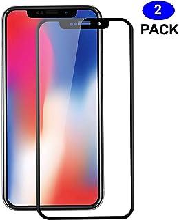 04fbff513 2 Unidades iPhone X Protector de Pantalla, WEOFUN 3D Pantalla Completa Vidrio  Templado para iPhone
