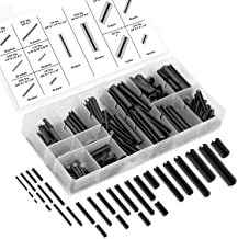 Neiko 50412A Roll Pin Assortment Set with Storage Case | Spring Steel | 315 Piece, Black