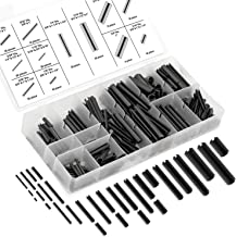 Neiko 50412A Roll Pin Assortment Set with Storage Case, 315 Pieces | Spring Steel
