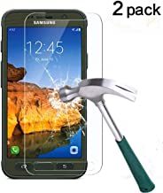 TANTEK s7active Galaxy S7 Active Screen Protector, Bubble-Free/Anti-Scratch/Anti-Fingerprint Tempered Glass Screen Protector (Not S7 and S7 Edge) - 2 Piece