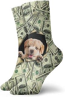 Dydan Tne, Niños Niñas Locos Divertidos Patrón de Dinero Calcetines para Perros Lindos Calcetines de Vestir de Novedad