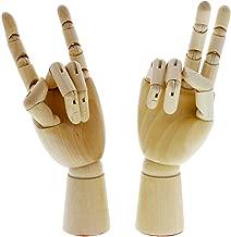 US Art Supply Artist Drawing Hand Manikin Articulated Wooden Mannequin (Choose Size & Hand Type Below) (7