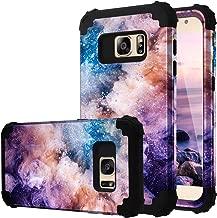 Galaxy S7 Case, Fingic Samsung S7 Case 3 in 1 Heavy Duty Protection Hybrid Hard PC Soft Silicone Rugged Bumper Anti Slip Full-Body Shockproof Protective Case for Samsung Galaxy S7 G930 - Nebula Black