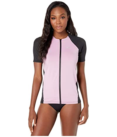 Nike Solid Short Sleeve Hydroguard (Frosted Plum) Women