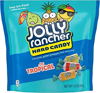 Jolly Rancher Hard Candy Tropical Flavor Candy, 13 Oz (Pack of 8)
