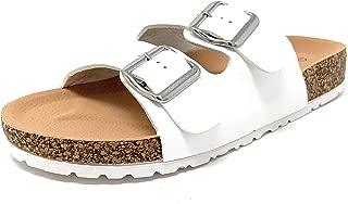 Wild Diva Womens Open Toe Slip on Slide Double Strap Platform Sandal - AUDRINA-06