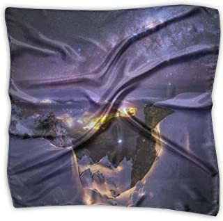 Girl's Silk Scarf Sleep Alpaca Printed Square Scarf Sunscreen Shawls