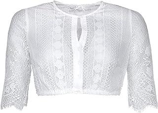 MarJo Trachten Damen Trachten-Mode Dirndlbluse Conny-Madlenka in Weiß traditionell