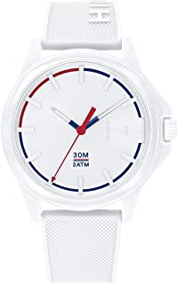 Tommy Hilfiger Men'S White Dial White Silicone Watch - 1791623