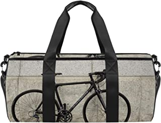 EGGDIOQ Retro Bicycle Wheels Designed Fashion Travel Duffel Bag Luggage Handbag Gym Sports Tote Bags for Man Women with We...