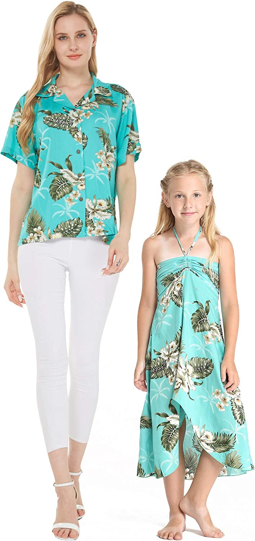 Mother Daughter Matching Hawaiian Choice Max 55% OFF Luau Lady R Dress Shirt Girl
