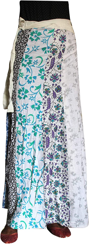 Lakkar Haveli Indian Style Women's Patchwork Long Skirt Party Wear Boho Beach Wear Gypsy Casual Multi Color