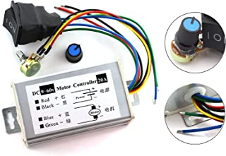 DZS Elec 1pc DC Motor Speed Controller 9-60V Forward/Reverse High Power PWM Control Switch Motor Speed Regulator DC 12V 24V 36V 48V 60V 20A 1200W