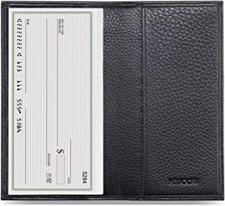 HISCOW Minimalist Checkbook Cover - Full Grain Leather