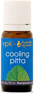 Cooling Pitta Aroma Oil | 0.34 fl. oz. /10 ml | Herbal Essential Aromatic Oil for Cooling | with Deodar Cedar Oil, Chir Pine Oil & Vetiver Oil | Aromatherapy | Reduce Frustration & Irritability