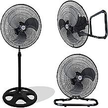 Kool-it 3 in 1 Premium Large High Velocity Industrial Black Floor Fan 18