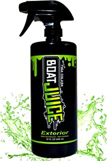 Boat Juice - Exterior Boat Cleaner - Water Spot Remover - Polymer Wax Sealant - Gloss Enhancer - Pina Colada Scent - 32oz Sprayer Bottle