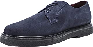 GEOX Men's Suede Broderik Shoes Navy