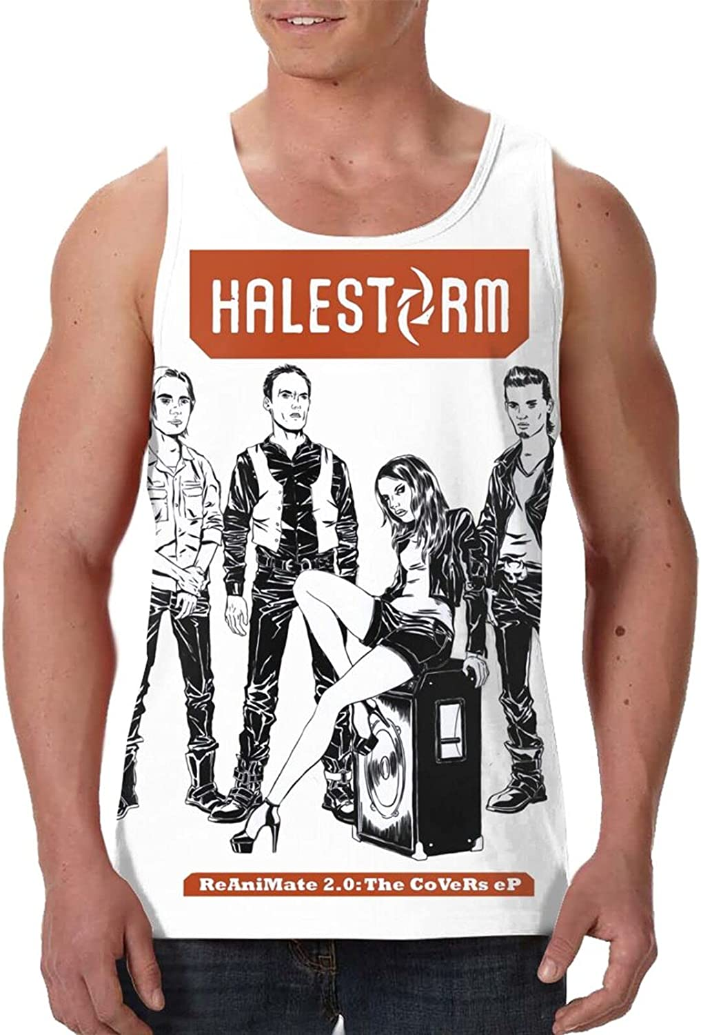 Halestorm Reanimate 2.0 The Covers Ep Tank Top T Shirt Mens Summer Fashion O Neck Tops Sports Sleeveless Vest