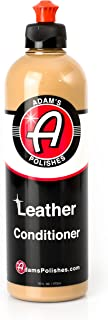 Adam's Leather & Interior Conditioner 16oz - Conditions Leather, Vinyl, and Plastic Interior Surfaces - Contains Premium UV Blockers for SPF 65 Protection - Long Lasting Protection