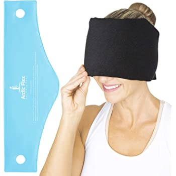 Arctic Flex Migraine Relief Ice Pack - Hat for Headaches - Flexible Cold and Hot Gel Wrap Eye Mask for Injuries to Head, Neck, Shoulder Tension Pain - Freeze, Heat Therapy - Kid, Men, Women - Reusable