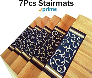 Gloria Rug Stair Treads Non Slip - Outdoor Skid Resistant Stair Set of 7 (8.5