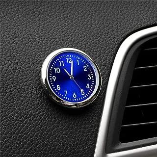Eadorns Car Ornament Automotive Clock Accessories Auto Stick-on Watch Interior Decoration (Blue)