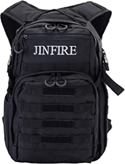JINFIRE Military Tactical Backpack Molle Bag Backpacks Assault Pack Army Rucksacks for Hiking, Camping, Trekking, 24.2L