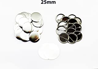 ChiButtons 25mm Metal Pin Badge Round (500Sets) Metric System