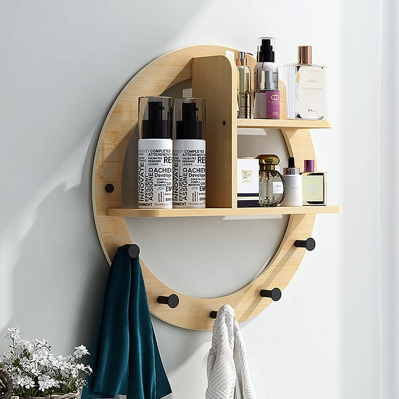 Floating Shelves Bamboo Wood Surprise price Free shipping Wall Mounted Shelf Unit Bookshelf