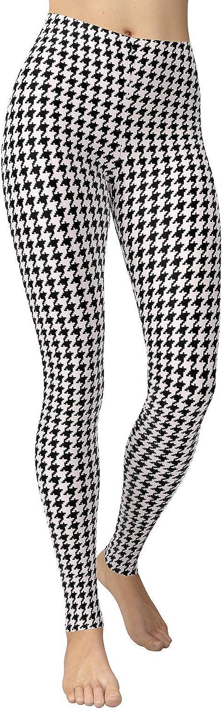 VIV Collection Women's High Waist Print Fashion Leggings Pants Brushed Buttery Soft List 1