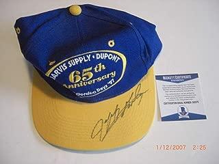 jeff gordon autographed hat
