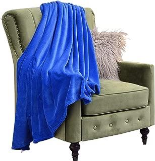 Eternal Moment Flannel Blanket, Super Cozy Throw Blanket, 370gsm Plush Blanket Suitable for All Season-Royal Blue-Throw