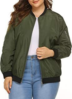 Best plus size bomber jacket womens Reviews