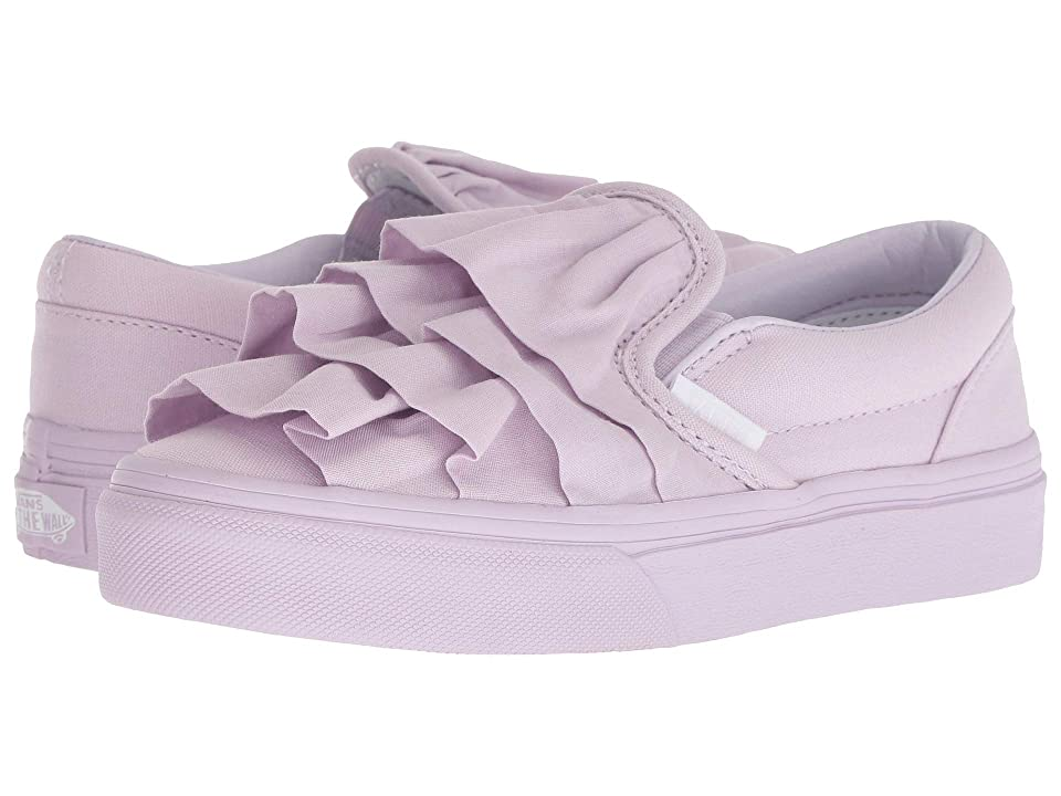 Vans Kids Classic Slip-On (Little Kid/Big Kid) ((Ruffle) Lavender Fog) Girls Shoes