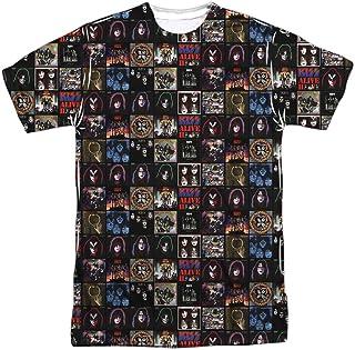 Kiss Rock Band Collection of Classic Album Cover - Camiseta con impresión frontal y trasera para adultos
