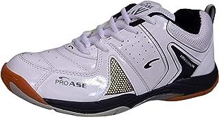 ProAse Men's White Orange Badminton Shoes Size -