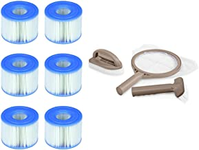 Intex PureSpa Type S1 Easy Set Pool Filter Cartridges (6 Filters) & Cleaning Kit