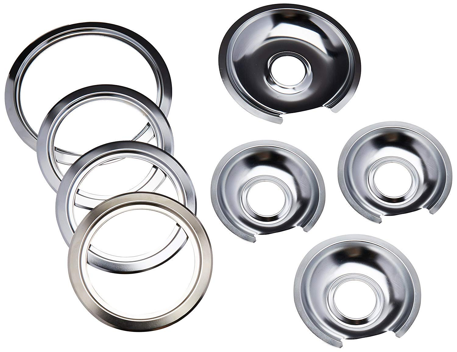 6 NEBOO Drip Pan Set for Frigidaire 316048413 and 316048414 8 2 2