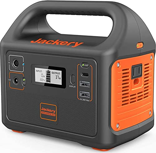 Jackery Portable Power Station Explorer 160, 167Wh Lithium Battery Solar Generator (Solar Panel Optional) Backup Powe...