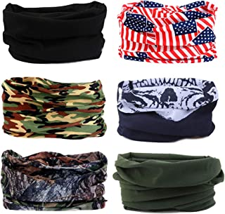 Toes Home 6PCS Outdoor Magic Headband Elastic Seamless Bandana Scarf UV Resistence Sport..
