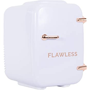 Amazon Com Finishing Touch Flawless Mini Beauty Fridge For Makeup And Skincare White 4 Liter Beauty
