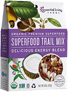 Essential Living Foods Organic Raw Superfood Trail Mix, 8 Ounce -- 6 per case.