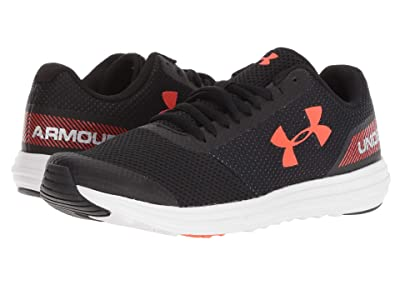 Under Armour Kids UA BGS Surge Running (Big Kid) (Black/White/Ares Red) Boys Shoes