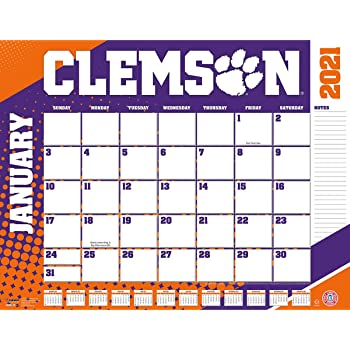 Amazon.: TURNER Sports Clemson Tigers 2021 22X17 Desk Calendar