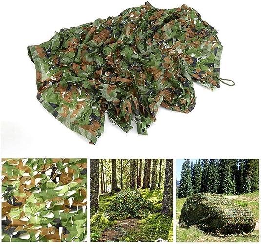 Qjifangzyp Voile D'ombrage Filet De Camouflage Vert, 2x3m écran Solaire Tente De Chasse for La Chasse Tir Ombre Camping Décoration De Jardin Couverture De Voiture 4x6m (Taille   5  5M)